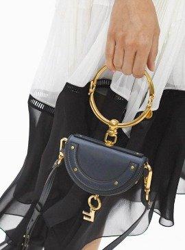$1450Chloé Blue Small Nile Minaudiere Bag