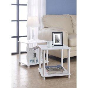 Mainstays No Tools Single Cube Storage Shelf Side Tables, Set of 2