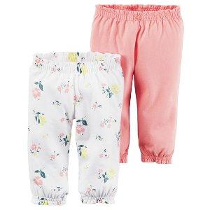 Baby Girl 2-Pack Babysoft Pants | Carters.com