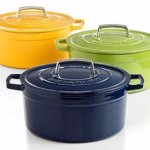 Martha Stewart Collection Blueberry Collector's Enameled Cast Iron 6 Qt. Round Casserole