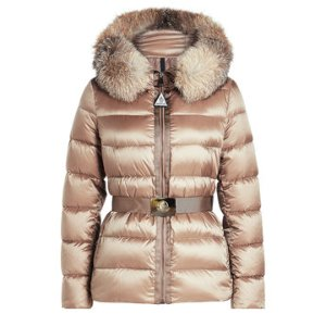 Down Jacket with Fur-Trimmed Hood - Moncler | WOMEN | US STYLEBOP.COM