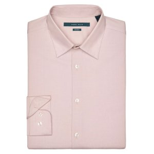 Big and Tall Non-Iron Iridescent Twill Shirt - Perry Ellis