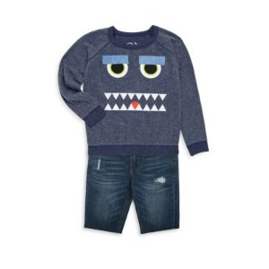 Toddler's & Little Boy's Monster Mash Reverse Fleece Sweatshirt