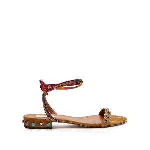 Rockstud Rolling suede flat sandals | Valentino | MATCHESFASHION.COM US