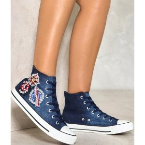 Later Sailor Embellished Sneakers | Shop Clothes at Nasty Gal!