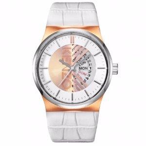 Womens Snakeskin White and Gold Kenzo Watch   Unineed   Premium Beauty & Fashion