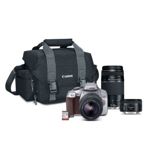 Canon EXCLUSIVE EOS Rebel T6 Gray 3-Lens Black Friday Bundle
