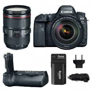 Canon EOS 6D Mark II w/ EF 24-105mm USM Lens & Battery Grip w/ Charger Kit
