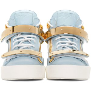 Giuseppe Zanotti: SSENSE Exclusive Blue London High-Top Sneakers
