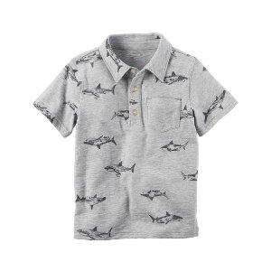 Toddler Boy Printed Slub Jersey Polo | Carters.com