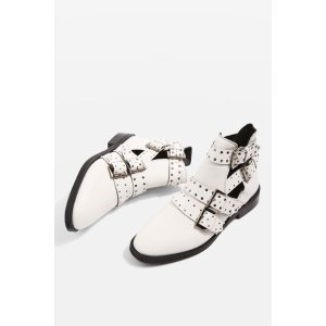 ARK Leather Studded Buckle Boots