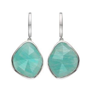 Monica Vinader Siren Large Nugget Amazonite Earrings