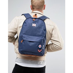 Lambretta | Lambretta Backpack Military with Badges in Navy