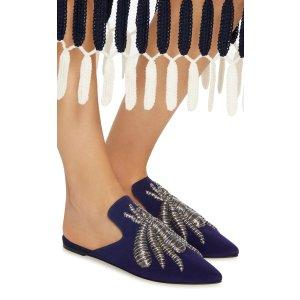 Ragno Embroidered Woven Slippers by Sanayi 313   Moda Operandi