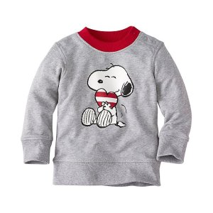 Baby Snoopy Be Mine Sweatshirt In 100% Cotton | Baby Sale Tops & Bottoms