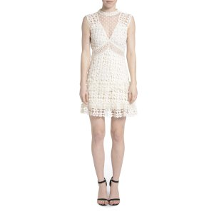 Romeo & Juliet Couture Crochet Solid Color Lace Dress (449303501) | Bluefly.Com