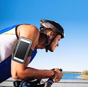 AUKEY iPhone 7 Sports Armband with Key Slots, Water Resistant Fitness Armband for iPhone 6S and Other Cell Phones Below 4.7 inches