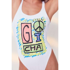 Gotcha For UO Graphic One-Piece Swimsuit | Urban Outfitters