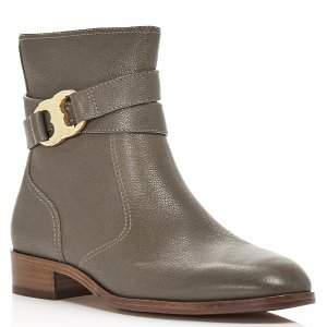 Tory Burch Gemini Link Leather Ankle Boots | Bloomingdale's