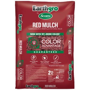 Scotts Earthgro 2立方英尺铺地木屑 红色