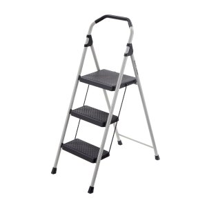Gorilla Ladders 3-Step Lightweight Steel Step Stool Ladder with 225 lb. Load Capacity Type II Duty Rating-GLS-3 - The Home Depot