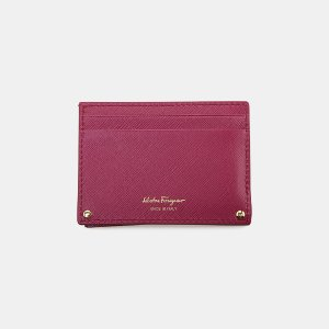 Salvatore Ferragamo Gancini Icona Card Case Small Leather Goods | ELEVTD Free Shipping & Returns