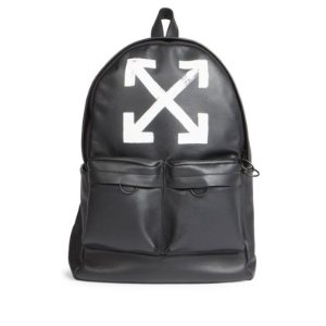 Off-White - Brushed Leather Arrows Backpack