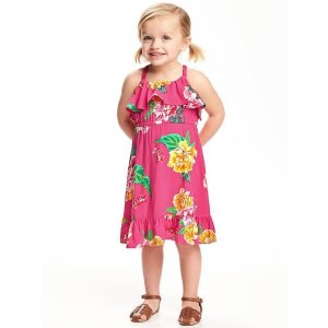 Ruffle-Trim Fit & Flare Dress for Toddler
