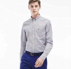 $54.99($110)Lacoste Men's Checked Oxford Woven Shirt