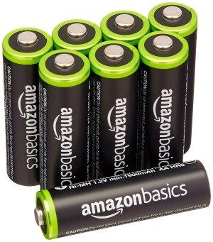$13.97AmazonBasics AA 高品质充电电池,8节