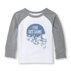 Toddler Boys PLACE Sport Long Raglan Sleeve Graphic Top | The Children's Place