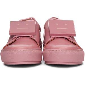 Acne Studios: Pink Adriana Sneakers | SSENSE