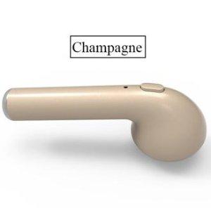 Bluetooth 4.1 Wireless Bluetooth Monaural Headset In-ear Ear Buds Headset Earphone(Champagne)