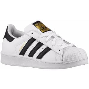 adidas Originals Superstar - Boys' Preschool - Basketball - Shoes - White/Black/White