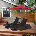 Balichun 9 Ft Outdoor Table Aluminum Patio Umbrella