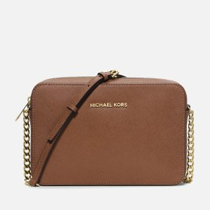 MICHAEL MICHAEL KORS Women's Jet Set Large East West Cross Body - Luggage - Free UK Delivery over £50