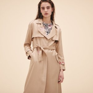 GLORIE Trench coat with embroidery