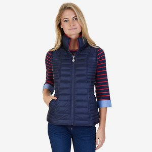 Quilted Down Reversible Puffer Vest