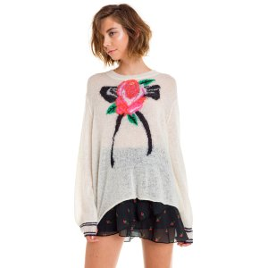 Ascot Rose Trilogy Sweater - Wildfox