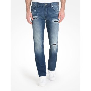 Armani Exchange DESTROY WASH STRAIGHT FIT JEANS, Straight Fit Denim for Men - A|X Online Store