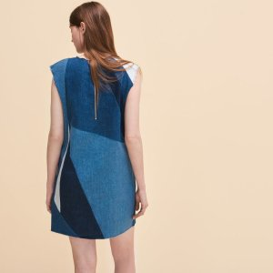 RATCH Denim three-hole dress - Dresses - Maje.com