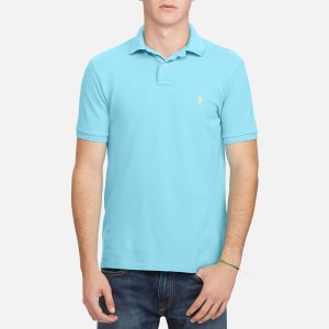 Polo Ralph Lauren Men's Weathered Mesh Short Sleeve Polo Shirt - Aqua