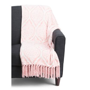 Juno Plush Tassel Throw - Blankets & Throws - T.J.Maxx