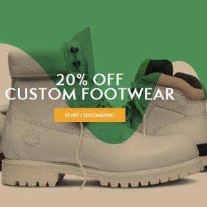 20% OFFTimberland Custom Footwear Sale