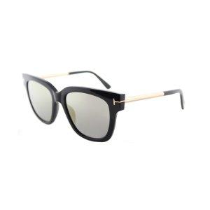 Tom Ford Tf 436 01c Tracy Shiny Black Square Sunglasses | Bluefly.Com
