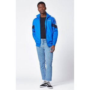 adidas Challenger Blue & White Track Jacket at PacSun.com