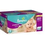 Pampers Cruisers 婴儿纸尿裤超大包装, 3- 7号