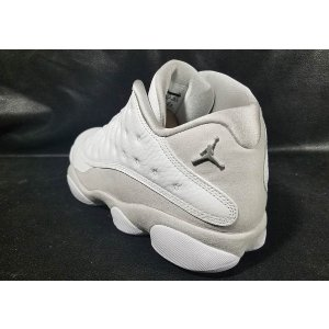Jordan Retro 13 Low - Men's - Basketball - Shoes - White/Metallic Silver/Pure Platinum