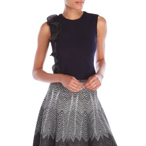 Structured Ruffle Top - Century 21