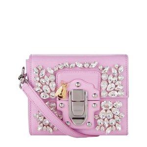 Dolce & Gabbana Mini Lucia Embellished Leather Shoulder Bag